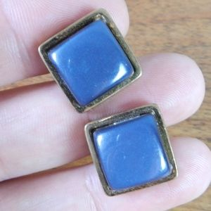Vintage Gray Square Cufflinks